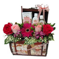 Exquisite Personal Care Hamper with Flowers