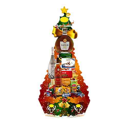 Attractive Cocktail Party Gift Basket<br>