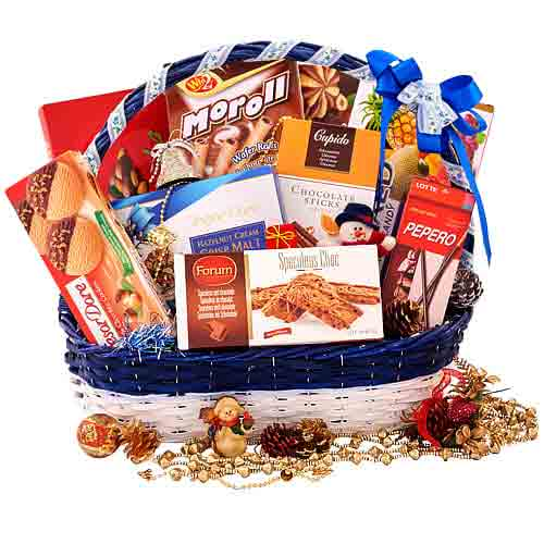 Wonderful Seasonal Greetings Gift Basket
