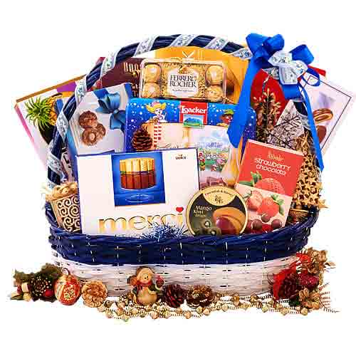 Amazing Time For Celebration Gift Basket<br>