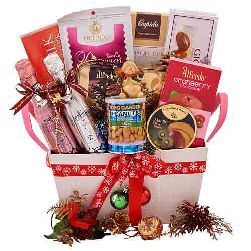 Handsome Comfort N Cheer Gift Basket<br>