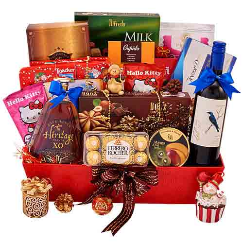 Awe-Inspiring Ultimate Holiday Basket of Goodies<br>