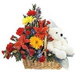 Abundant Love - Flowers and Teddy together