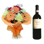 Vintage Wine and Bouquet