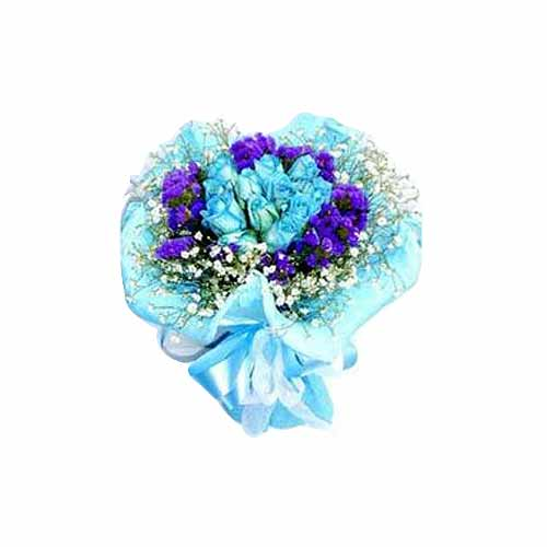 Captivating 12 Stalks of Blue Roses